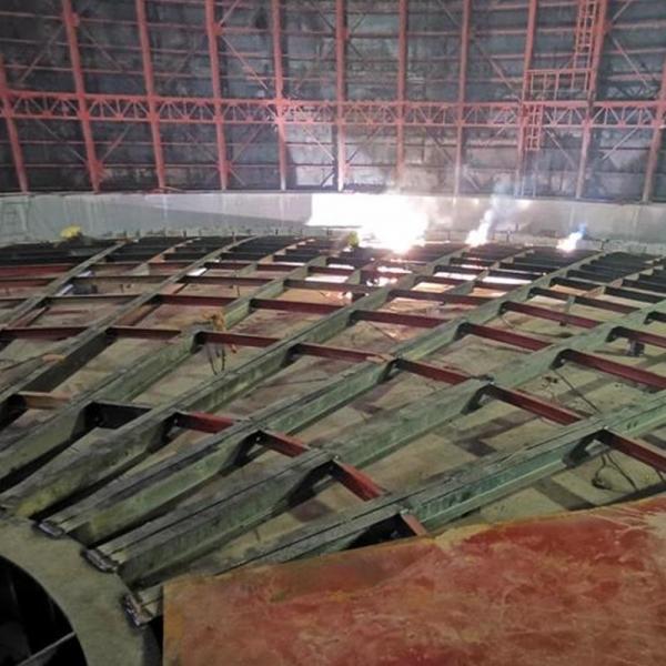 气柜安装工程现场施工